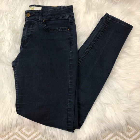 Zara 36 Medium Wash Skinny Jeans Lightweight 4